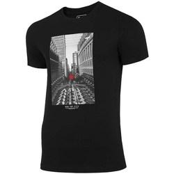 Oblačila Moški Majice s kratkimi rokavi 4F TSM020 Črna