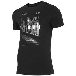 Oblačila Moški Majice s kratkimi rokavi 4F TSM025 Črna