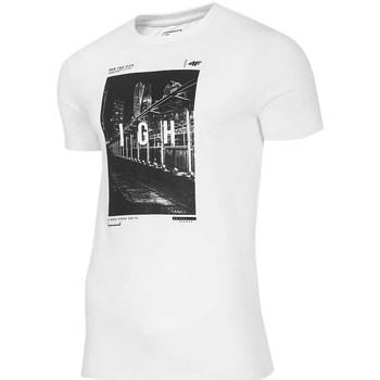 Oblačila Moški Majice s kratkimi rokavi 4F TSM025 Bela