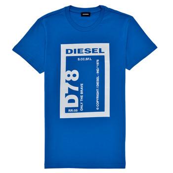 Oblačila Dečki Majice s kratkimi rokavi Diesel TFULL78 Modra