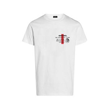 Oblačila Dečki Majice s kratkimi rokavi Diesel TDIEGOS Bela