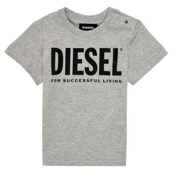 Oblačila Otroci Majice s kratkimi rokavi Diesel TJUSTLOGOB Siva