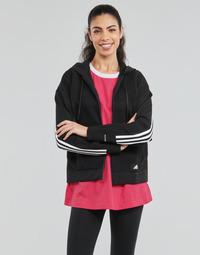 Oblačila Ženske Puloverji adidas Performance W Knit V Hoodie Črna