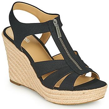 Čevlji  Ženske Sandali & Odprti čevlji MICHAEL Michael Kors BERKLEY WEDGE Črna