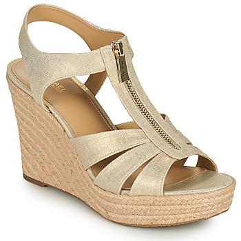 Čevlji  Ženske Sandali & Odprti čevlji MICHAEL Michael Kors BERKLEY WEDGE Pozlačena