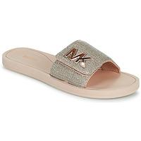 Čevlji  Ženske Natikači MICHAEL Michael Kors MK SLIDE Rožnata / Nude / Pozlačena