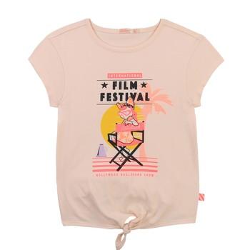 Oblačila Deklice Majice s kratkimi rokavi Billieblush U15852-44F Rožnata