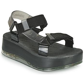 Čevlji  Ženske Sandali & Odprti čevlji Melissa PAPETE PLATFORM + RIDER Črna / Siva