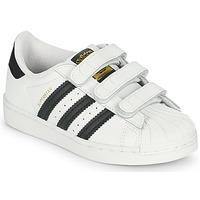 Čevlji  Otroci Nizke superge adidas Originals SUPERSTAR CF C Bela / Črna