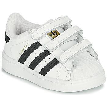 Čevlji  Otroci Nizke superge adidas Originals SUPERSTAR CF I Bela / Črna