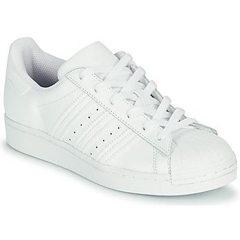 Čevlji  Otroci Nizke superge adidas Originals SUPERSTAR J Bela