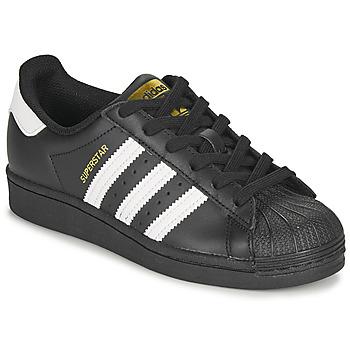 Čevlji  Otroci Nizke superge adidas Originals SUPERSTAR J Črna / Bela