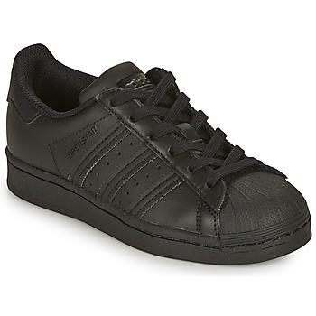 Čevlji  Otroci Nizke superge adidas Originals SUPERSTAR J Črna