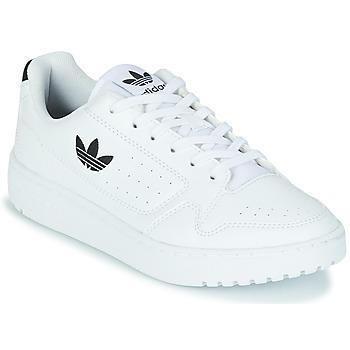 Čevlji  Otroci Nizke superge adidas Originals NY 92 J Bela / Črna