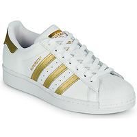 Čevlji  Ženske Nizke superge adidas Originals SUPERSTAR W Bela / Pozlačena