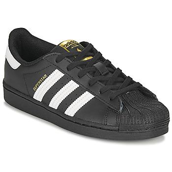 Čevlji  Otroci Nizke superge adidas Originals SUPERSTAR C Črna / Bela