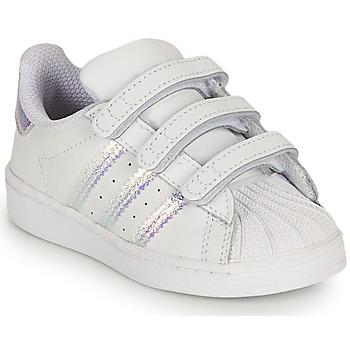 Čevlji  Deklice Nizke superge adidas Originals SUPERSTAR CF I Bela