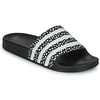 Čevlji  Ženske Natikači adidas Originals ADILETTE W Črna / Bela
