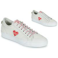 Čevlji  Ženske Nizke superge adidas Originals NIZZA  TREFOIL W Bela / Rdeča