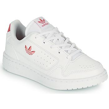 Čevlji  Otroci Nizke superge adidas Originals NY 92 C Bela / Rožnata
