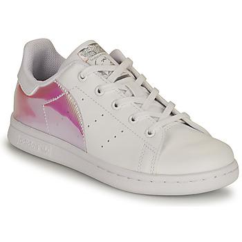 Čevlji  Deklice Nizke superge adidas Originals STAN SMITH C SUSTAINABLE Bela / Rožnata