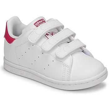 Čevlji  Deklice Nizke superge adidas Originals STAN SMITH CF I SUSTAINABLE Bela / Rožnata