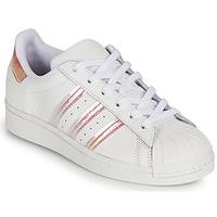 Čevlji  Deklice Nizke superge adidas Originals SUPERSTAR J Bela