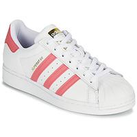 Čevlji  Ženske Nizke superge adidas Originals SUPERSTAR W Bela / Rožnata