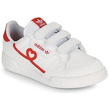 Čevlji  Deklice Nizke superge adidas Originals CONTINENTAL 80 CF C Bela / Rdeča