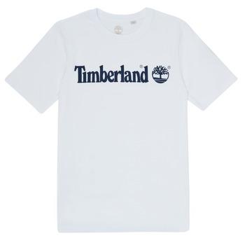 Oblačila Dečki Majice s kratkimi rokavi Timberland FONTANA Bela