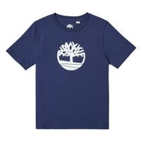 Oblačila Dečki Majice s kratkimi rokavi Timberland TRISTA Modra
