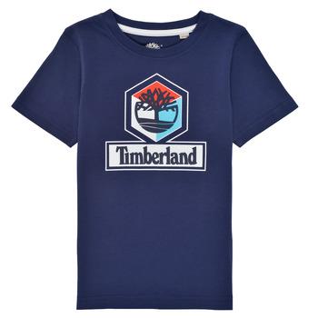 Oblačila Dečki Majice s kratkimi rokavi Timberland GRISS Modra