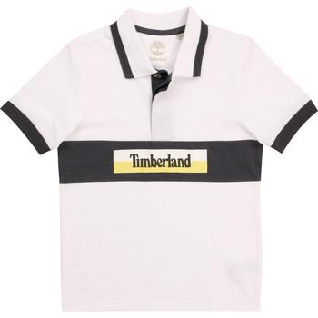 Oblačila Dečki Polo majice kratki rokavi Timberland DOTTO Bela