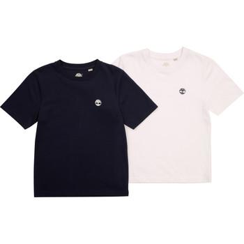 Oblačila Dečki Majice s kratkimi rokavi Timberland FONNO Večbarvna