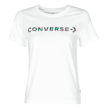 Oblačila Ženske Majice s kratkimi rokavi Converse CENTER FRONT ICON CLASSIC TEE Bela