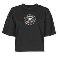 Oblačila Ženske Majice s kratkimi rokavi Converse CHUCK WOMENS WANDER TANK Črna