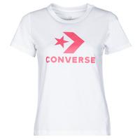 Oblačila Ženske Majice s kratkimi rokavi Converse STAR CHEVRON CENTER FRONT TEE Bela
