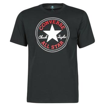 Oblačila Moški Majice s kratkimi rokavi Converse NOVA CHUCK PATCH TEE Črna