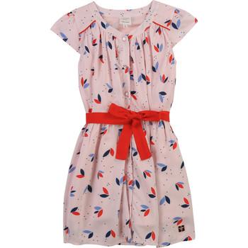 Oblačila Deklice Kratke obleke Carrément Beau Y12246-44L Rožnata