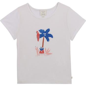 Oblačila Deklice Majice s kratkimi rokavi Carrément Beau Y15383-10B Bela