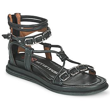Čevlji  Ženske Sandali & Odprti čevlji Airstep / A.S.98 POLA SQUARE Črna