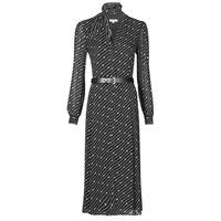Oblačila Ženske Dolge obleke MICHAEL Michael Kors CIRCLE LOGO SHRT DRS Črna / Bela