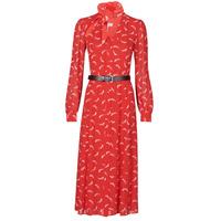 Oblačila Ženske Dolge obleke MICHAEL Michael Kors SIGNTRE LOGO SHRT DRS Rdeča