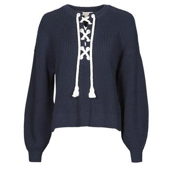 Oblačila Ženske Puloverji MICHAEL Michael Kors EASY ROPE LACE SWTR Modra