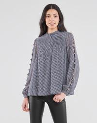 Oblačila Ženske Topi & Bluze MICHAEL Michael Kors MINI FLORAL LS TOP Modra