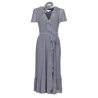 Oblačila Ženske Dolge obleke MICHAEL Michael Kors MINI BICOLR 60S FLRL DRS Modra