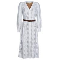 Oblačila Ženske Dolge obleke MICHAEL Michael Kors ROPE STRIPES HEMP DS Bela