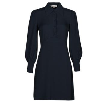 Oblačila Ženske Kratke obleke MICHAEL Michael Kors VI SATIN MINI DRESS Modra