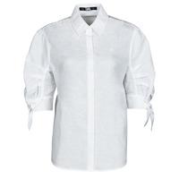 Oblačila Ženske Srajce & Bluze Karl Lagerfeld LINENSHIRTW/BOWS Bela