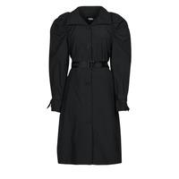 Oblačila Ženske Trenči Karl Lagerfeld DRAPEDTRENCHCOAT Črna